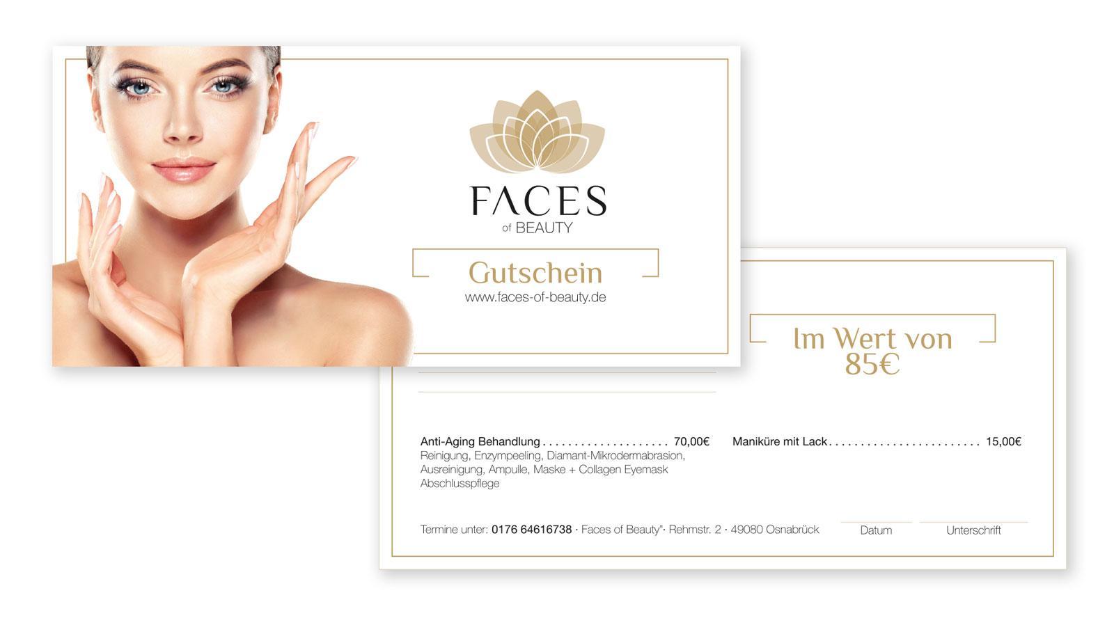 Faces of Beauty Gutschein